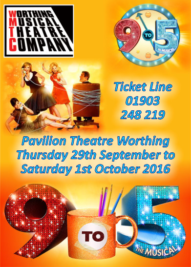 nine to five - the musical - worthing theatres 2016 - click here to book tickets